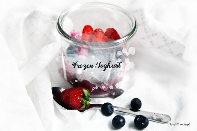 frozen Joghurt jogurt ice eis rezept essen food